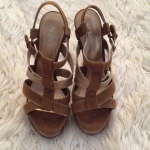 Aldo strappy heels size 8
